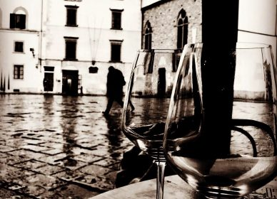 Through the drinking glass, Firenze.